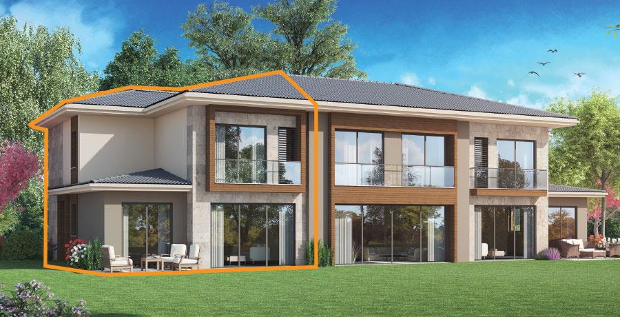 B192 – 192 m²  4+1 Bahçeli Dubleks