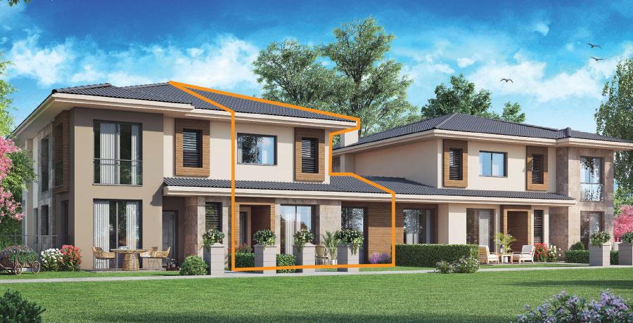 C149 - 149 m² 2+ 1 Bahçeli Dubleks