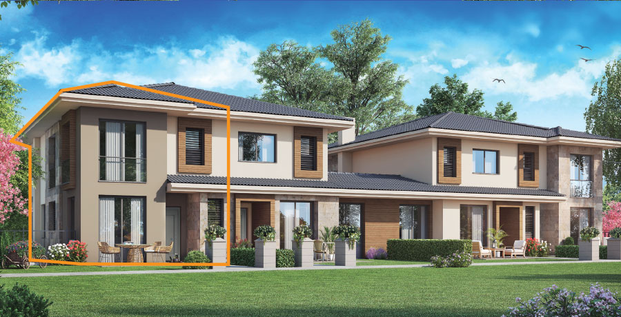 C171 - 171 m²  3+ 1 Bahçeli Dubleks