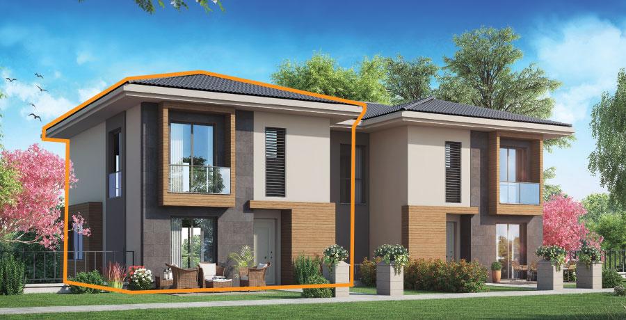D192 - 192 m²  3+ 1 Bahçeli Dubleks