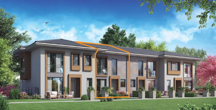 E136 - 136 m²  2+ 1 Bahçeli Dubleks