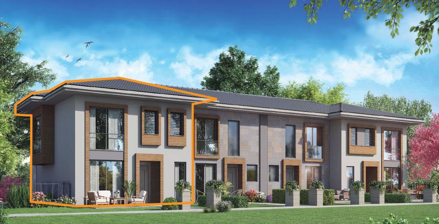 E170 - 170 m²  3+ 1 Bahçeli Dubleks