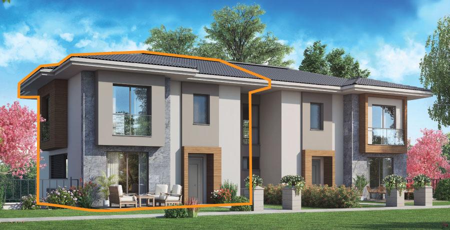 F187 - 187 m²  4+ 1 Bahçeli Dubleks